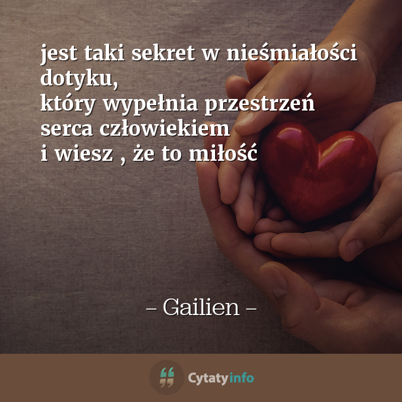 <em>jest taki sekret w nieśmiałości dotyku,  który wypełnia przestrzeń serca człowiekiem i wiesz , że to miłość