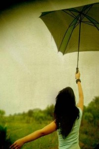pod parasolką